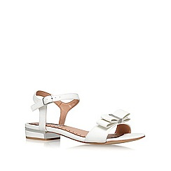 Miss KG - White 'Ruby' flat sandals