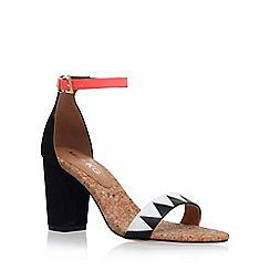 Miss KG - Black 'Faye 2' mid heel sandals