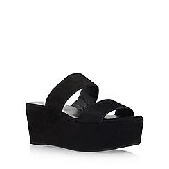 Carvela - Black 'Klassy' high heel wedge sandal