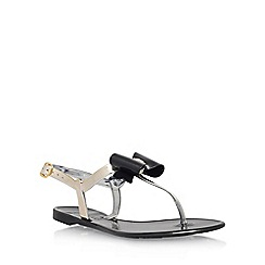 Miss KG - Black 'Rafi' flat sandals