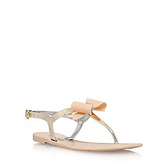 Miss KG - Natural 'Rafi' flat sandals