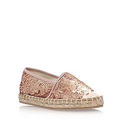 Miss KG - Gold 'Desiree' slip on espadrille