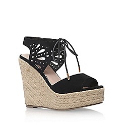 Lipsy - Black 'Brooke' high heel wedge sandals