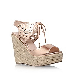 Lipsy - Grey 'Brooke' high heel wedge sandals