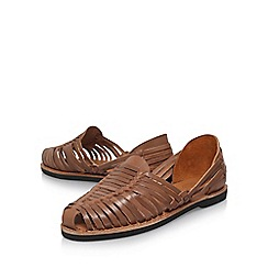 KG Kurt Geiger - Brown 'Farnley' Flat Sandals