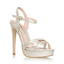 Miss KG - Gold 'Eva' high heel sandals