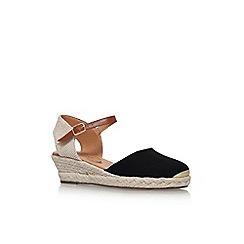 Miss KG - Black 'Lea' high heel wedge sandals