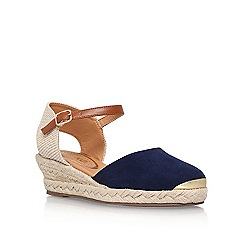 Miss KG - Blue 'Lea' high heel wedge sandals
