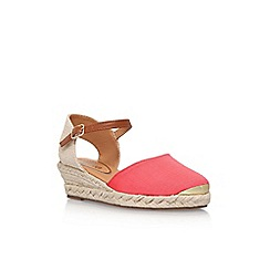 Miss KG - Pink 'Lea' high heel wedge sandals