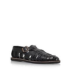 KG Kurt Geiger - Black 'Fenay' Flat Sandals