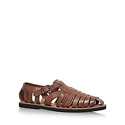 KG Kurt Geiger - Brown 'Fenay' Flat Sandals