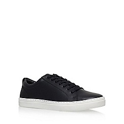 KG Kurt Geiger - Black 'Finstock' flat lace up sneaker