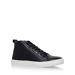 KG Kurt Geiger - Black 'Flockton' flat high top sneakers