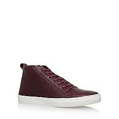 KG Kurt Geiger - Red 'Flockton' flat lace up sneaker