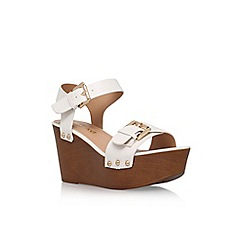 Miss KG - White 'Pedro' high heel wedge sandal