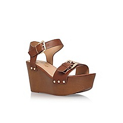 Miss KG - Brown 'Pedro' high heel wedge sandal