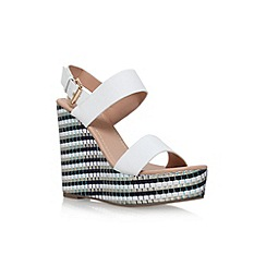Miss KG - White 'Panda' high wedge sandal