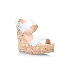 Miss KG - Silver 'Panda' high wedge sandal