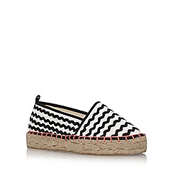 Miss KG - Black 'Dottie' flat slip on sneakers