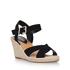 Miss KG - Black 'Pineapple 2' high heel wedge sandal