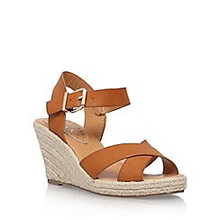 Miss KG - Brown 'Pineapple 2' high heel wedge sandal
