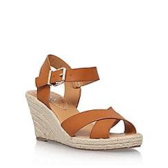 Miss KG - Brown 'Pineapple 2' high heel wedge sandal