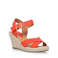 Miss KG - Orange 'Pineapple 2' high heel wedge sandal