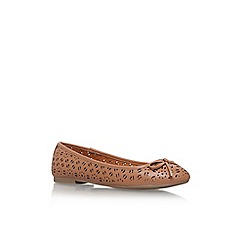 Miss KG - Brown 'nelson' flat ballerina pump