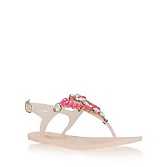 Miss KG - Natural 'Jada' flat sandal