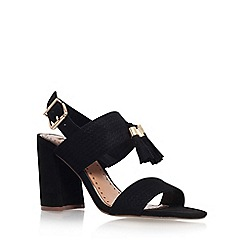 Miss KG - Black 'Elaina' mid heel sling back sandals