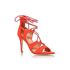 Miss KG - Red 'Gillian' high heel lace up sandal