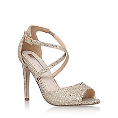 Miss KG - Gold 'Ellis' high heel sandals