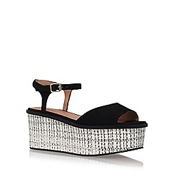 KG Kurt Geiger - Black 'Mambo' high heel wedge sandals