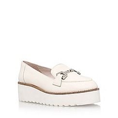 Carvela - White 'Latch' mid heel loafers