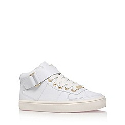 Carvela - White 'Larry' flat high top sneakers