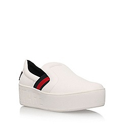 KG Kurt Geiger - White 'Lima' mid heel slip on pumps