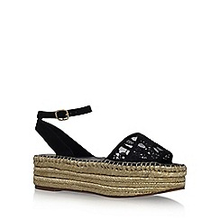 KG Kurt Geiger - Black 'Mika' flat sandals