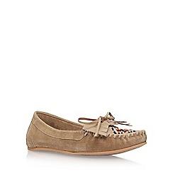 Miss KG - Beige 'Mona' flat loafers