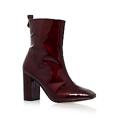 KG Kurt Geiger - Red 'Strut' high heel ankle boot