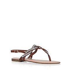 Miss KG - Brown 'Danni' flat sandals