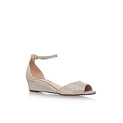 Miss KG - Gold 'Cassandra' low heel sandal