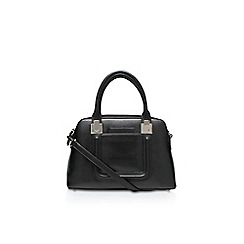 Nine West - Black 'Cutaway Satchel Md' handbag with shoulder strap