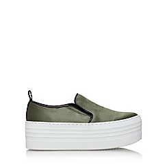 KG Kurt Geiger - Brown 'logan' slip on platform sneaker