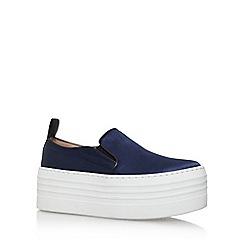 KG Kurt Geiger - Blue 'logan' slip on platform sneaker