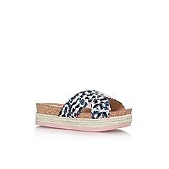 Nine West - Blue 'Amyas 3' flat sandal