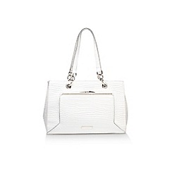 Nine West - White 'Nessa satchel' handbag with shoulder strap