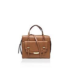 Nine West - Brown 'Tipping Point Satchel' handbag with shoulder strap