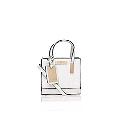 Carvela - White 'Jules' micro bag handbag with shoulder strap