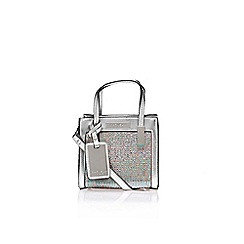 Carvela - Silver 'Jules' micro bag handbag with shoulder strap