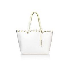 Nine West - White 'Scallop clutch' handbag with shoulder strap